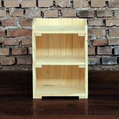Criado R2D2 - Criado mudo ideal para pequenos quartos, com largura reduzida e várias prateleiras, Fabricado artesanalmente, em madeira reciclada.