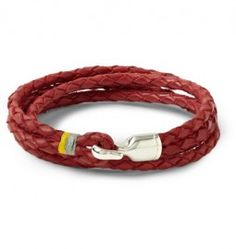 Miansai Trice Woven-leather Bracelet