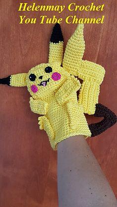 Pikachu Hand Puppet - Free Crochet / Amigurumi Pattern #crochet #amigurumi #free…