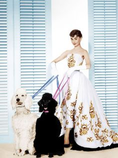 Audrey Hepburn in the couture dress from the Movie - Sabrina. Controversy around who designed the dress: Givenchy or famed costume designer Edith Head. Who do you think is the true designer of the dress?