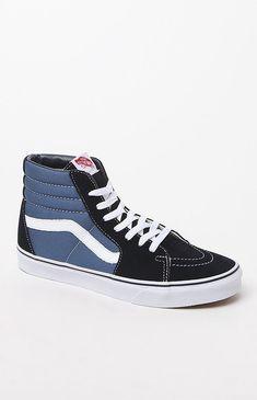 Vans Sk8-Hi Navy Shoes - 10.5 Skate Shoes 9254ccf48