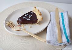 Chocolate lavender pie