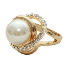 Anel Pearl Dourado