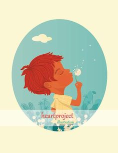 Dandelion 1: Poster imprimible de una ilustración por heartproject