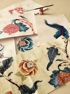 Tribal Pattern Art, Indian Prints, Design Development, Islamic Art, Floral Motif, Textile Art, Digital Prints, Hand Painted, Creative