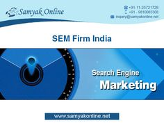 Search engine marketing is the most effective way to promote your products and services and grow your business. Our experts can help you to offer the exclusive SEM services in the most affordable rates.  Our experts provide the free advice as per your business needs and goals.