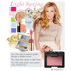 Light Spring. by poachy on Polyvore featuring beauty, NARS Cosmetics, Estée Lauder, Chantecaille, Yves Saint Laurent, Bobbi Brown Cosmetics, Marc Jacobs, Essie, Spring and makeup
