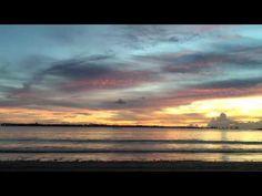 Sunrise on beach - Vitoria, Brazil (timelapse)