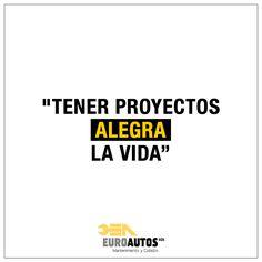 """""""Tener proyectos alegra la vida""""  #Frase #Quote #Inspiracion #Quote"""