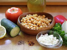 ensalada-garbanzo-ing-pq Salads, Beans, Healthy Eating, Healthy Recipes, Vegetables, Food, Colorful, Garbanzo Salad, Easy Food Recipes