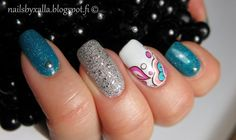 nails image on We Heart It Picture Polish, Natural Nails, Nail Art Designs, Nailart, Turquoise, Decals, Beauty, Diamond, Water