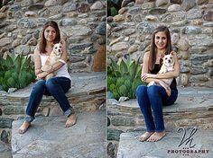 girl + dog