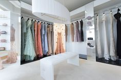 ELIE SAAB Haute Couture gowns on display at the Suite in Cannes, France