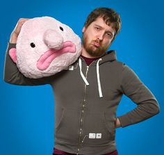Blobfish Plush - Take My Paycheck - Shut up and take my money! | The coolest gadgets, electronics, geeky stuff, and more! Ugly Animals, Plush Animals, Cute Animals, Weird Looking Animals, Blobfish, Weird Fish, Take My Money, Fishing Gifts, Geek Gifts