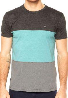 Camiseta MC Oakley Blocked Ss Sp Heather Grey - Compre Agora | Dafiti Brasil