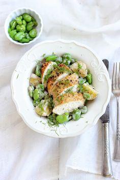 SŁODKI KOMPROMIS: Kurczak z ziemniakami i bobem