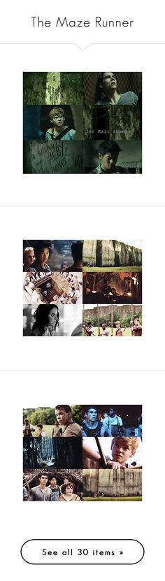 """The Maze Runner"" by glittereverywher ❤ liked on Polyvore featuring photo, tmr, home, kitchen & dining, the maze runner, maze runner, thomas sangster, iconing, people and table linens"