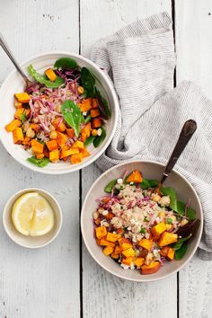 Sweet Potato Feta Quinoa Bowls by @loveandlemons for @saltandwind | http://saltandwind.com