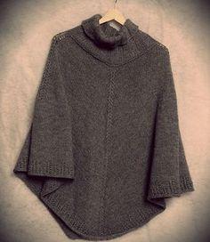 new ideas crochet poncho beginner knitting patterns Beginner Knit Scarf, Beginner Knitting Patterns, Easy Knitting Projects, Poncho Knitting Patterns, Crochet Poncho, Knitting For Beginners, Free Knitting, Baby Knitting, Crochet Vests