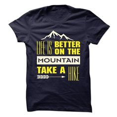 Hiking-on-the-mountain - #gifts for guys #birthday gift. HURRY => https://www.sunfrog.com/Outdoor/Hiking-on-the-mountain.html?id=60505