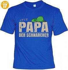 T-Shirt Vater - ZZZZ - Papa der Schnarcher - Geschenk Idee mit Humor zum Vatertag oder Geburtstag - royalblau, Größe:L (*Partner-Link)