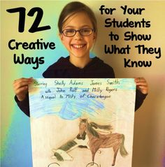 There are more ways to demonstrate understanding than just taking a test. Read this list of 72 ways for students to show what they know and get ideas!