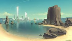 QR Coast Environment by Talros.deviantart.com on @deviantART #sea #landscape