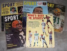 Five 1950's & 60's Sports Magazines http://www.premierplayers.com/
