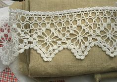 Simple and beautiful. Fifty Beautiful Edgings by Terry Kimbrough, crocheted edging for a curtain for the house pretty and elegant I could do this