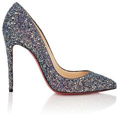 c82d0692c81 Christian Louboutin Womens Pigalle Follies Glitter Pumps Christian Louboutin  Shoes