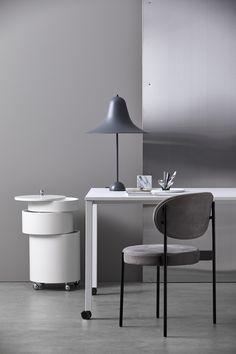 Order Verpan Pantop Table Large Grey by Verner Panton online and at a sharp price at dmlights. Scandinavian Lighting, Scandinavian Design, Chair Fabric, Chair Design, Pantone, Office Desk, Table Lamp, Grey, Room
