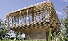 prefabricated wood cube cabin