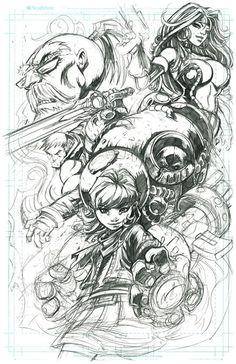 Sketchbook 1 by Dayne Henry Jr, via Behance
