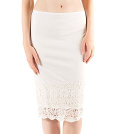 The soft, slinky material of the slip extenders slides easily underneath whatever you're wearing and feels great next to your skin. Undulating lace peek out from too-short skirts to add graceful movem
