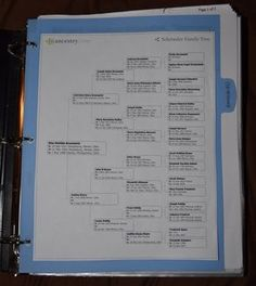 Good article on organization of genealogy binders. I like the way she organizes her files