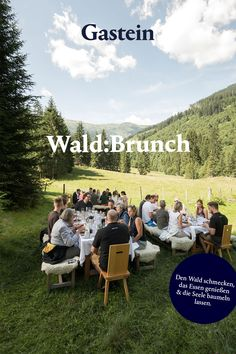 Beim Wald:Brunch im Angertal verbinden sich Frühstück und Mittagessen zu einem echten kulinarischen Erlebnis – mitten im Wald! Nach einer rund 30-minütigen Wanderung durch die schöne Natur in der Nähe von Bad Hofgastein wirst du beim Wald:Brunch mit einem 7-Gänge-Menü verwöhnt. Jetzt mehr erfahren! Brunch Menu, Dolores Park, Lunch, Breakfast, Nature, Middle, Beautiful, Tourism, Eat Lunch