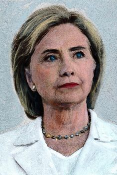 Portrait of Hillary Clinton World Leaders, Oil On Canvas, Leadership, Dreadlocks, Portrait, Hair Styles, Image, Beauty, Art