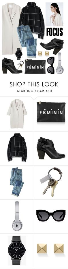 """""""quick set"""" by cutandpaste ❤ liked on Polyvore featuring Monki, Clare V., Chicwish, rag & bone, Wrap, CB2, Beats by Dr. Dre, Karen Walker, The Horse and Palm Beach Jewelry"""