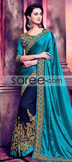 BLUE SILK SAREE WITH STONE WORK  #Saree #GeorgetteSarees #IndianSaree #Sarees  #SilkSarees #PartywearSarees #RegularwearSarees #officeWearSarees #WeddingSarees #BuyOnline #OnlieSarees #NetSarees #ChiffonSarees #DesignerSarees #SareeFashion