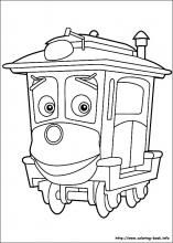 Chuggington Coloring Pages On Book