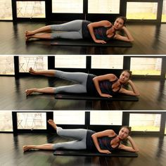 Side Saddle Leg Lifts: Those familiar with barre exercises will love these side saddle leg lifts that can be done anywhere: