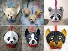 * * *La boite à idées de l' atelier * *: Pense-bête à offrir Seashell Painting, Seashell Art, Seashell Crafts, Beach Crafts, Shell Animals, Seashell Ornaments, Sharpie Crafts, Painted Shells, Animal Crafts