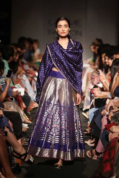From Lakme Fashion Week Winter Festive 2014 edition. luxurious fabrics by Sanjay Garg - we loved them!