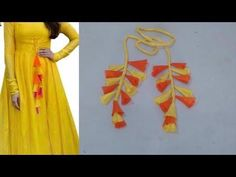 In this video i will teach you how to make latkan for kurti/ lehenga cutting and stitching step by step in hindi BUY ONLINE FROM: All Tailoring equipment htt. Blouse Back Neck Designs, Fancy Blouse Designs, Designs For Dresses, Sari Blouse Designs, Kurta Patterns, Designer Blouse Patterns, Dress Patterns, Sewing Patterns, Churidar Neck Designs