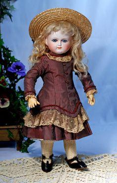 "Lot: 96. WONDERFUL FRENCH BISQUE BEBE BY SCHMITT ET FILS., Lot Number: 0096, Starting Bid: $3,500, Auctioneer: Frasher's Doll Auction, Auction: ""In Vogue"" Doll Auction, Date: April 2nd, 2017 BST"