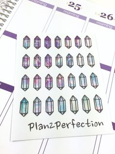 Crystal Planner Stickers  - Perfect for Erin Condren Plum Planner KikkiK and Inkwell planners ! (2.50 USD) by Plan2Perfection