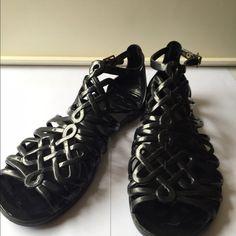 Diane Von Furstenberg Gladiator Jelly Sandals Sz 6 DVF Gladiator Sandals Sz US 6 Black pre-owned good condition Diane von Furstenberg Shoes Sandals