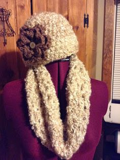 Northern Girl Stamper & Boutique: CROCHET HAT AND INFINITY SCARF SETS