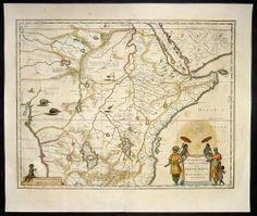 1631 Blaeu Antique Map of Central Eastern Africa Land of Prestor John   eBay