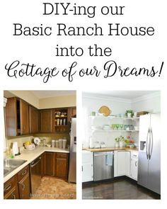 From ranch to dream cottage, part one of our 3 year home renovation flashback is on the blog today!